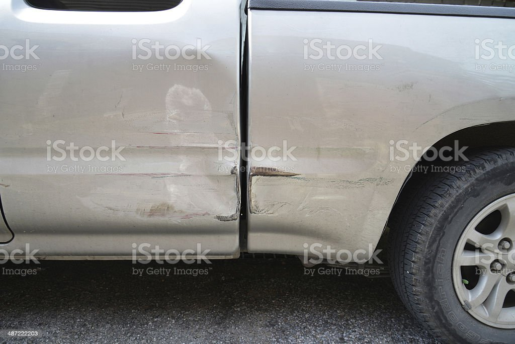 Car with dent royalty-free stock photo