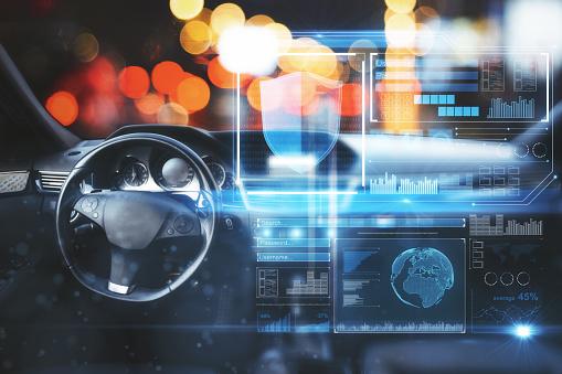 Auto Mit Digitalschnittstelle Stockfoto und mehr Bilder von Antiviren-Software