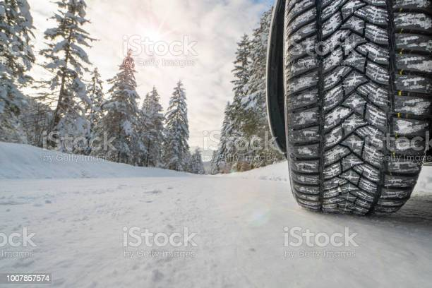 Car with winter tires on snowy road picture id1007857574?b=1&k=6&m=1007857574&s=612x612&h=qklw504zb1oftvxjxwwcbalnhmtnltsdgg6hzee63dm=