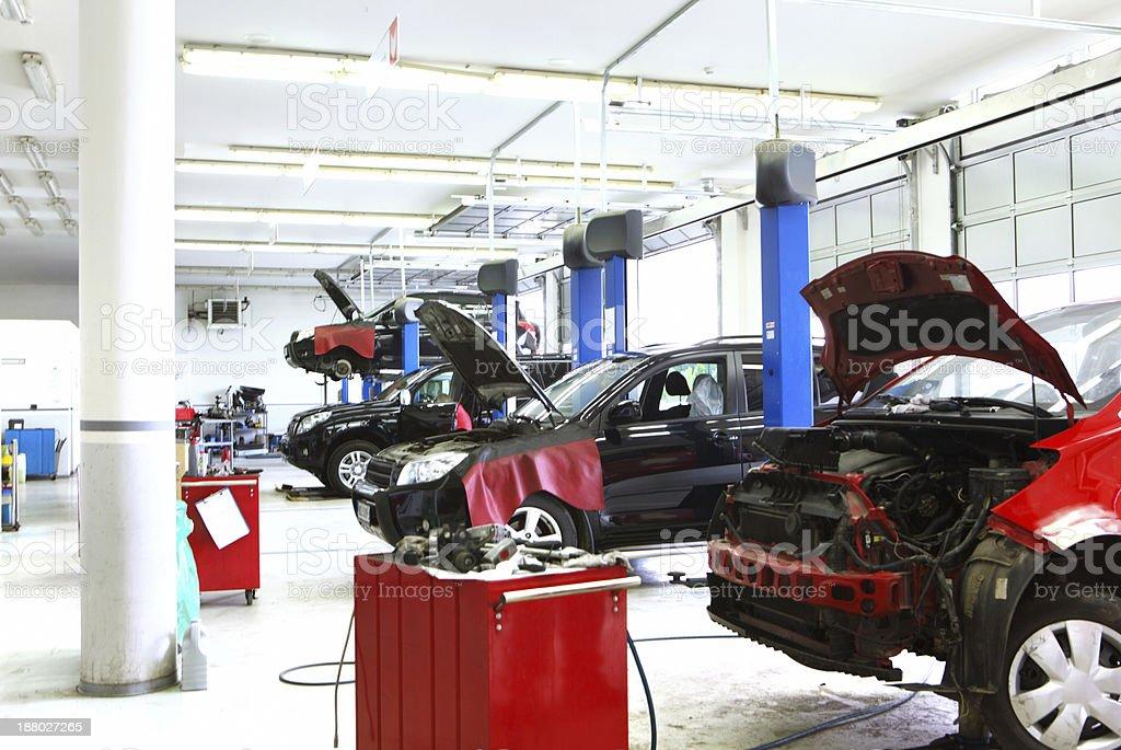 Car workshop. stock photo