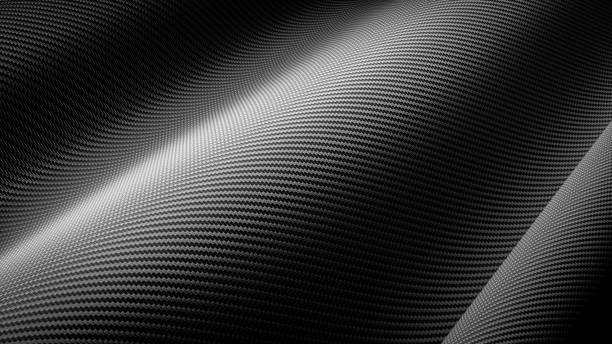 car wrapping film roll carbon fiber close up background. 3d rendering - avvolgere foto e immagini stock