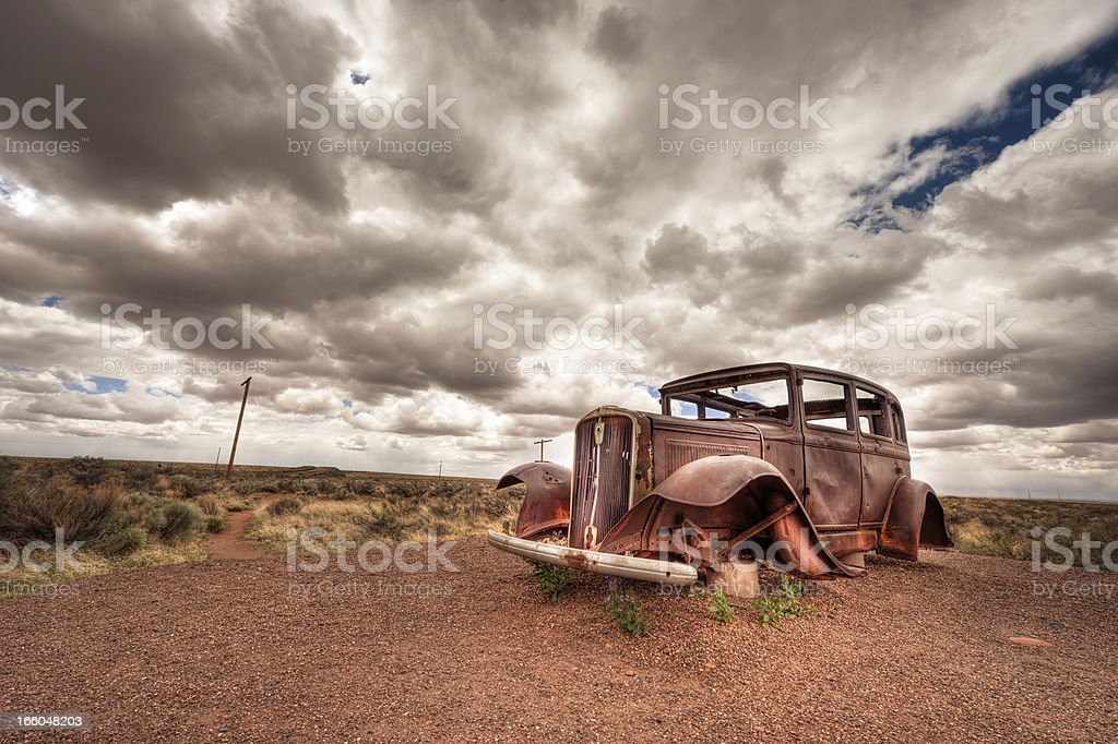 Car Wreck royalty-free stock photo