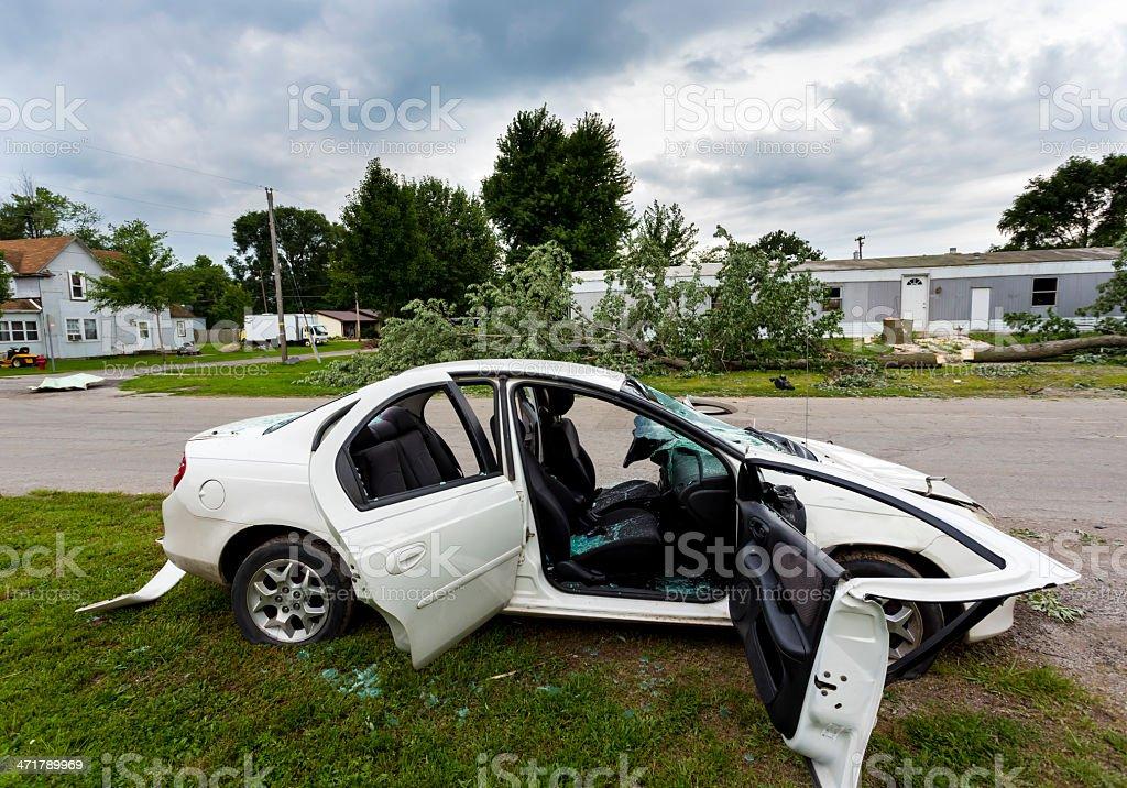 Car Wreckage royalty-free stock photo