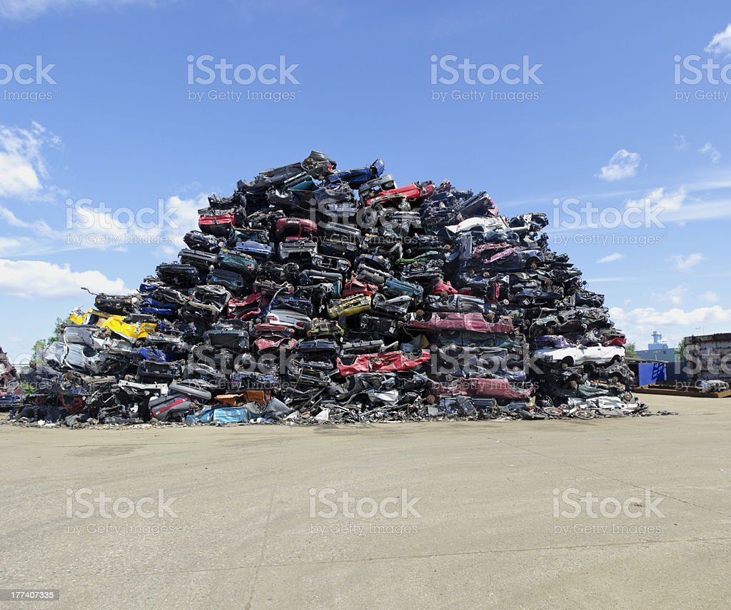 car wrecks stock photo