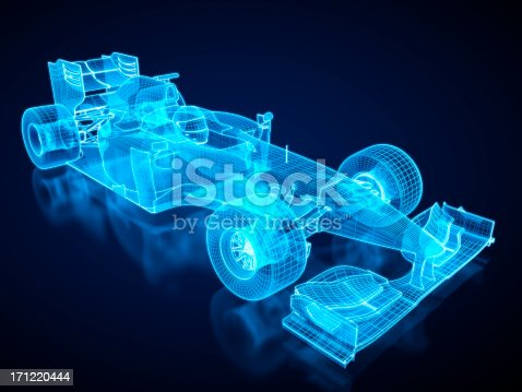 istock F1 Car X-ray / Blueprint - with clipping path 171220444