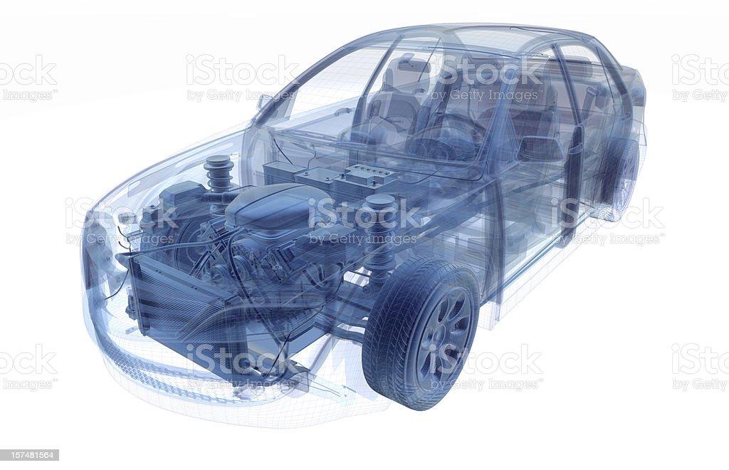 Car X-RAY stock photo