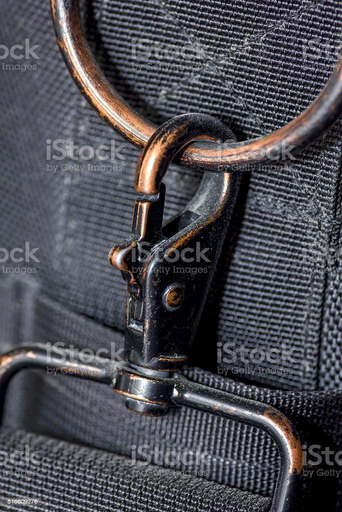 carabiner and belt stock photo