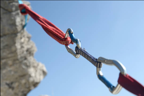 Carabiner Carabiner and Climbing Equipment trust stock pictures, royalty-free photos & images