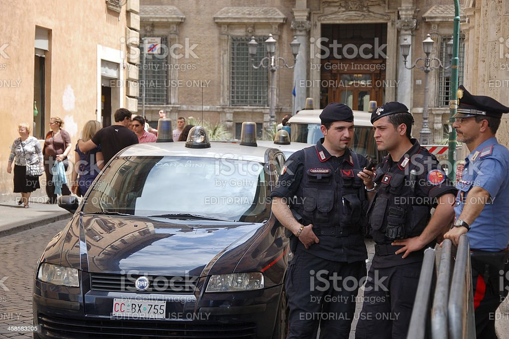 Carabinieri stock photo