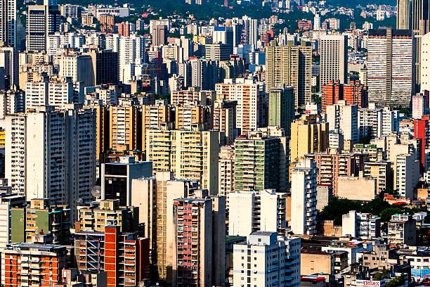 Caracas Stadt verkehren Fernbusse Luftaufnahme – Foto