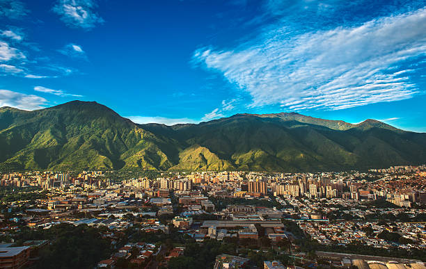 caracas, venezuela - cityscape on a sunny afternoon - venezuela stock photos and pictures