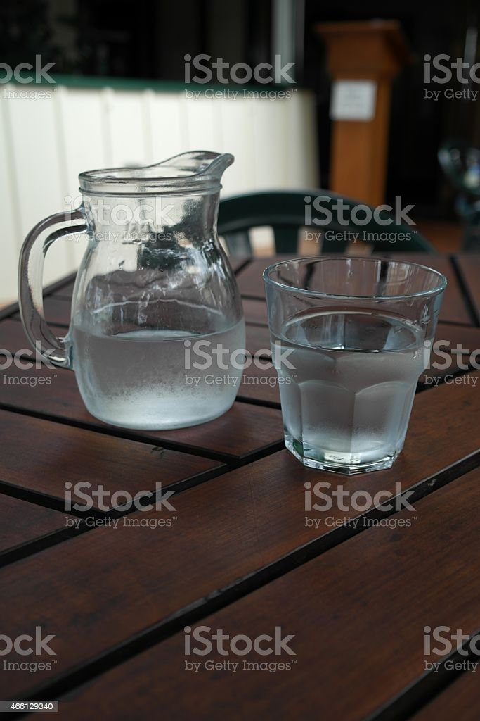 Carafe and glass stock photo