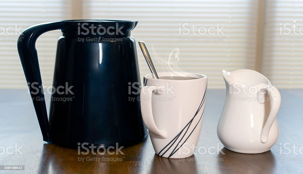 Carafe Filled With Morning Coffee stock photo