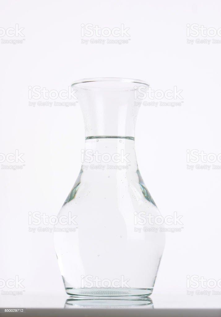 carafe of fresh water stock photo