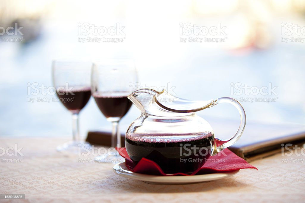 Carafe of Red wine royalty-free stock photo
