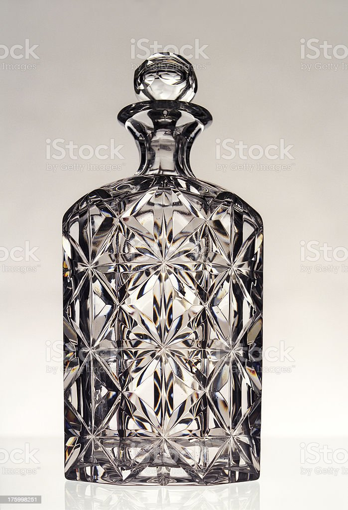 carafe,decanter,crystal royalty-free stock photo