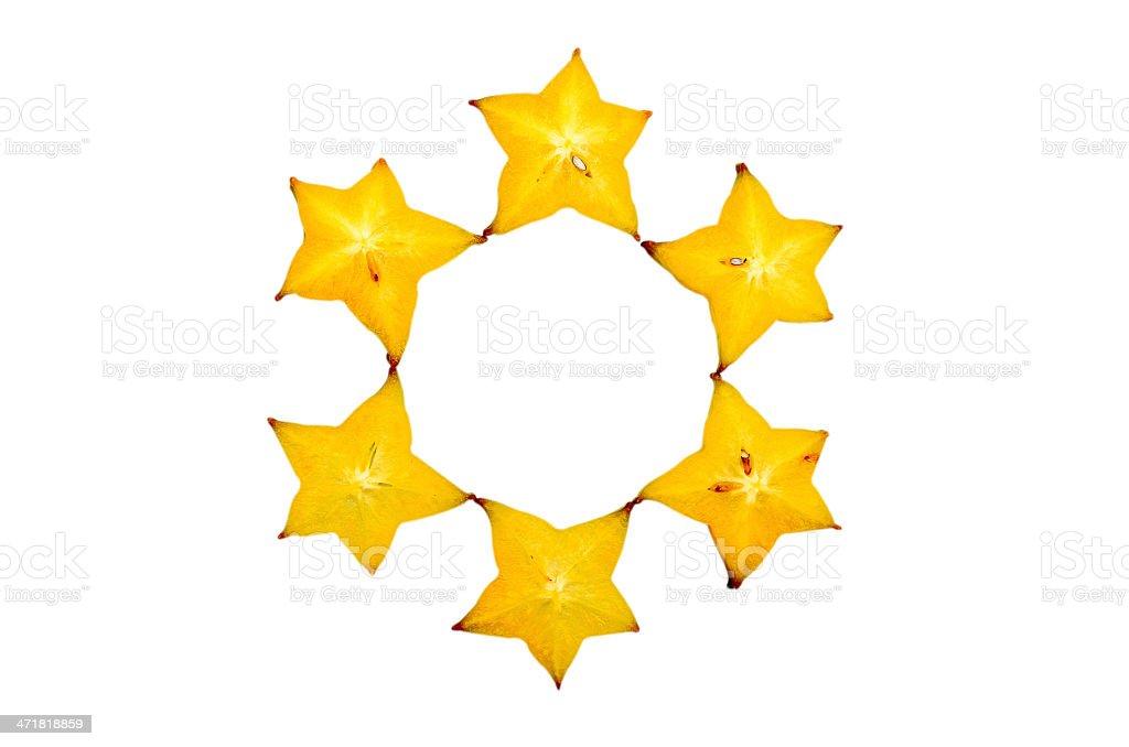 carambola - star fruit isolated on white background royalty-free stock photo