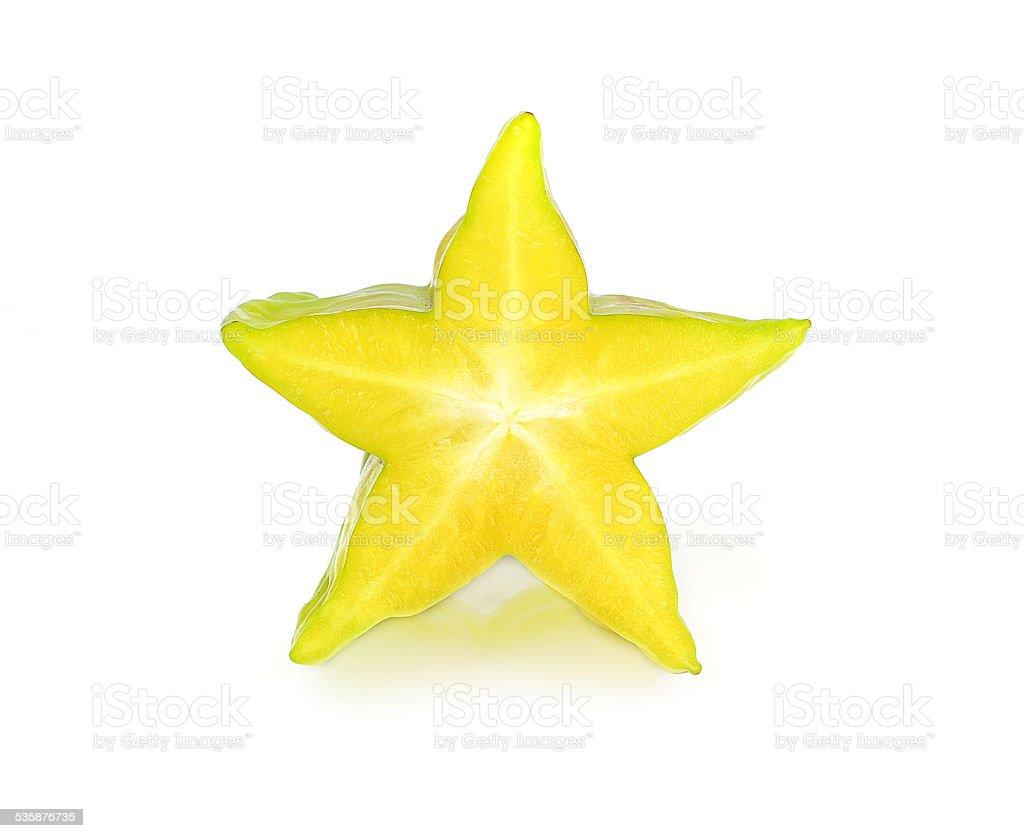 carambola, star fruit isolated on white background stock photo