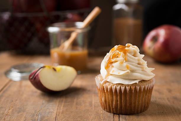 Caramel Apple Cupcake Horizontal stock photo