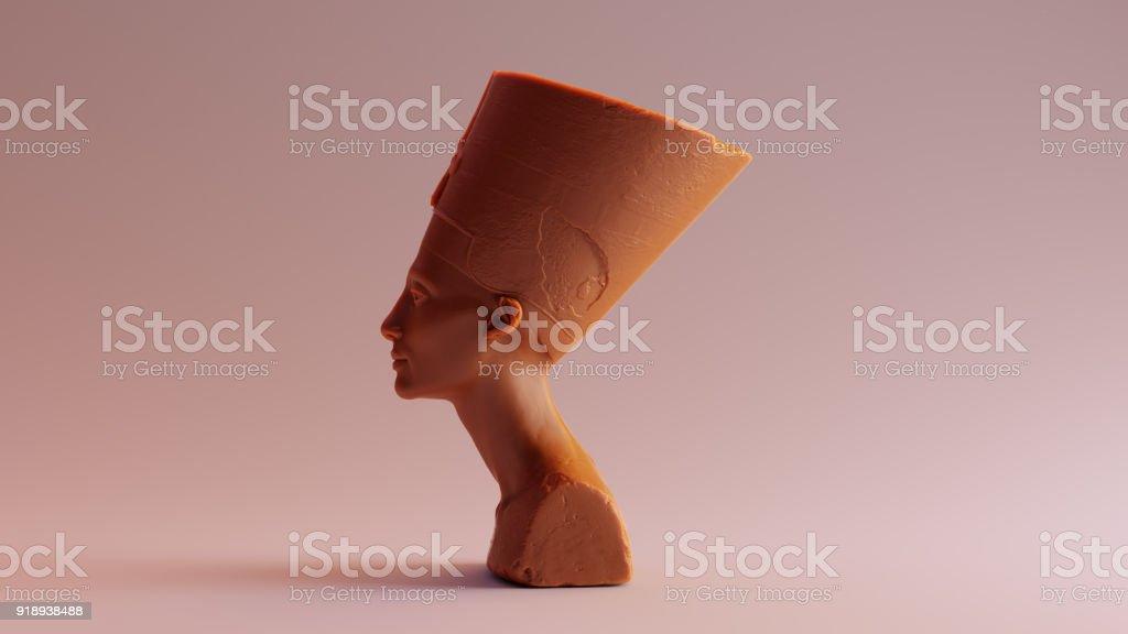 Caramel Bust of Nefertiti stock photo