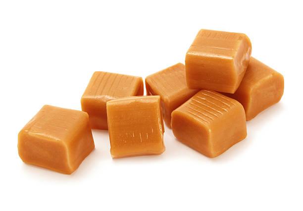 caramel candies - fudge stockfoto's en -beelden