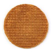 istock Caramel cookie on white background 1295328095