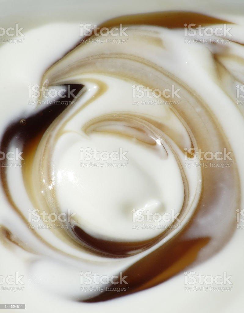 Caramel cream stock photo