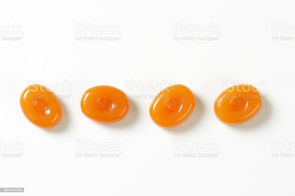 Caramel Hard Candies stock photo