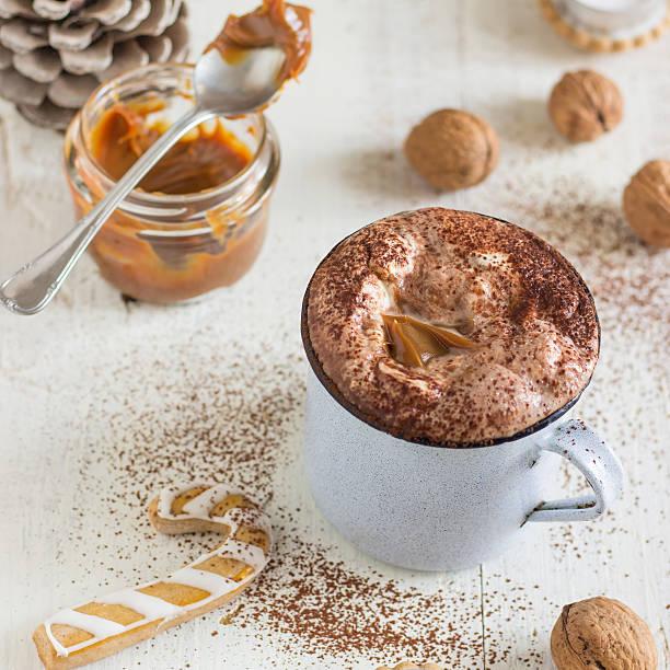 Caramel Hot Chocolate stock photo