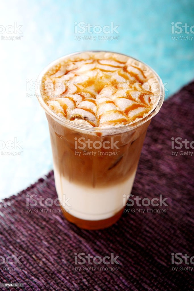 Caramel Latte royalty-free stock photo