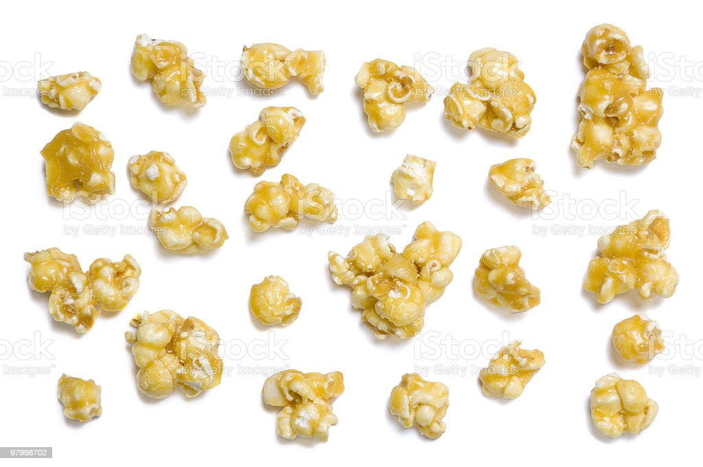 Caramel Popcorn Pieces royalty-free stock photo