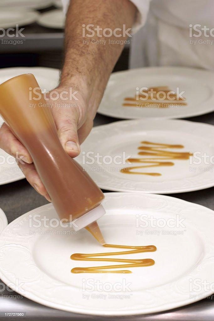 Caramel Sauce royalty-free stock photo