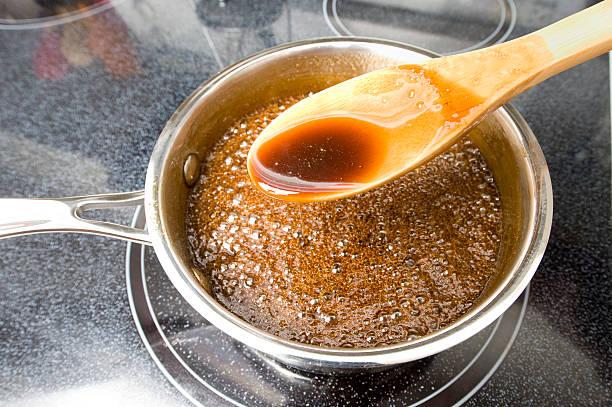 Caramel Sauce stock photo