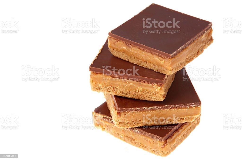 Caramel shortcakes royalty-free stock photo