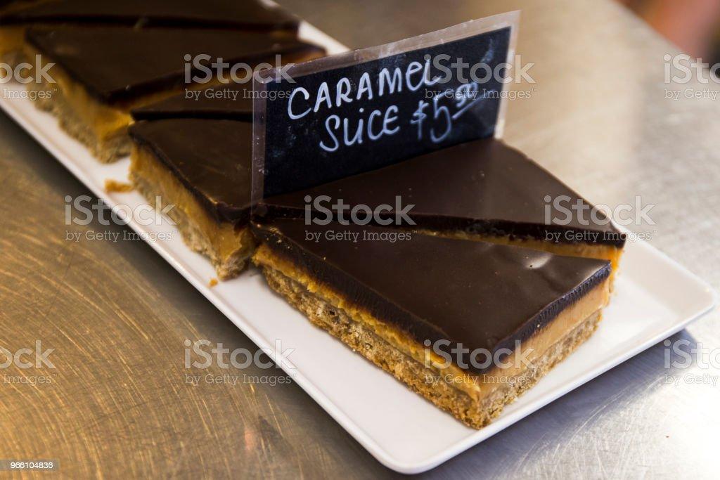 Caramel slices - Royalty-free Assado no Forno Foto de stock