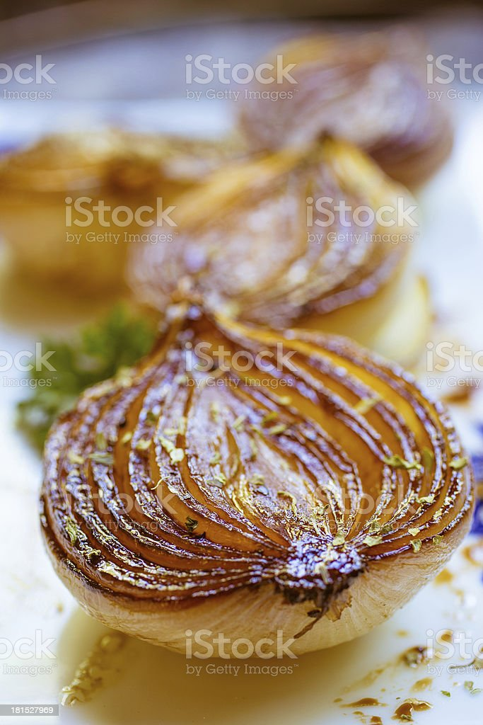 Caramelized balsamic onions royalty-free stock photo