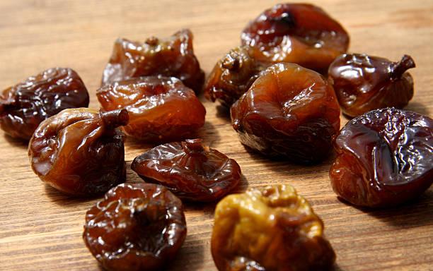 Caramelized figs stock photo