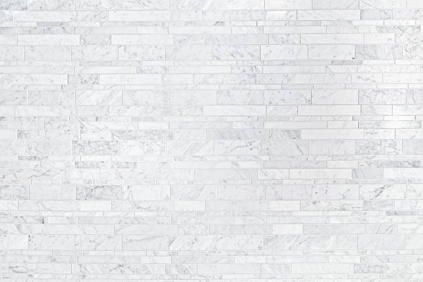 cararra white marble tile background pattern texture - tile stock photos and pictures