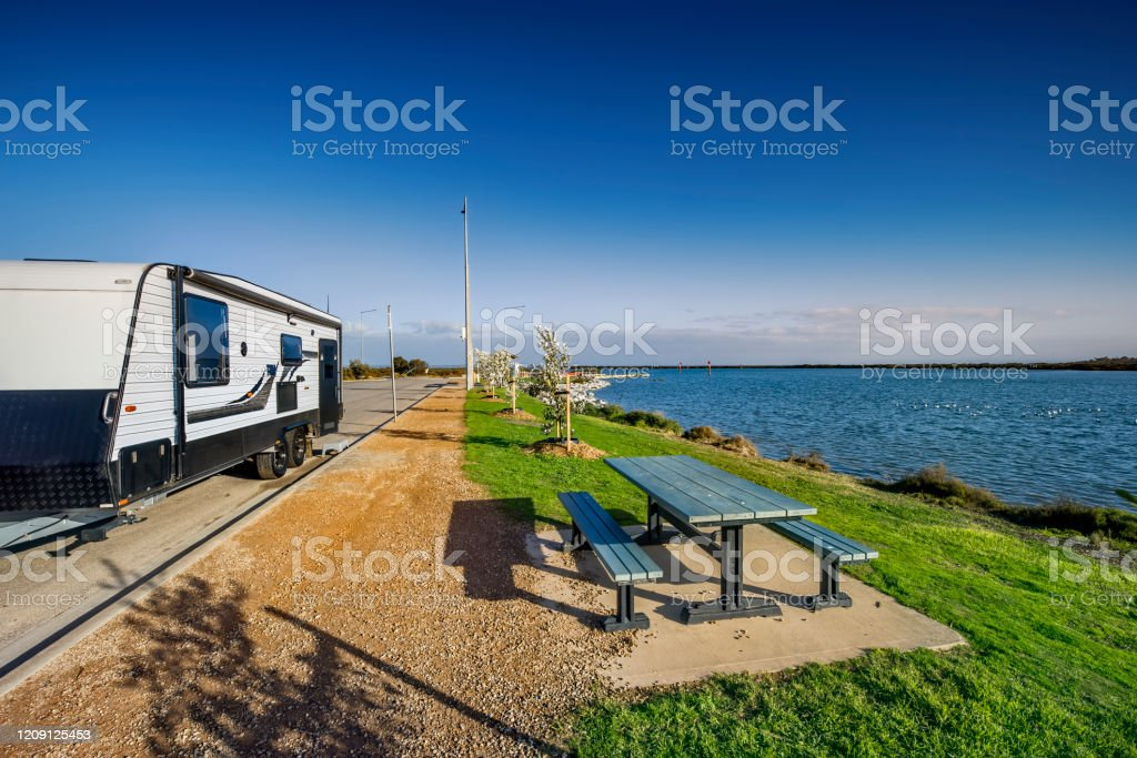 Caravan at the Tooradin Foreshore - Royalty-free Australia Stock Photo