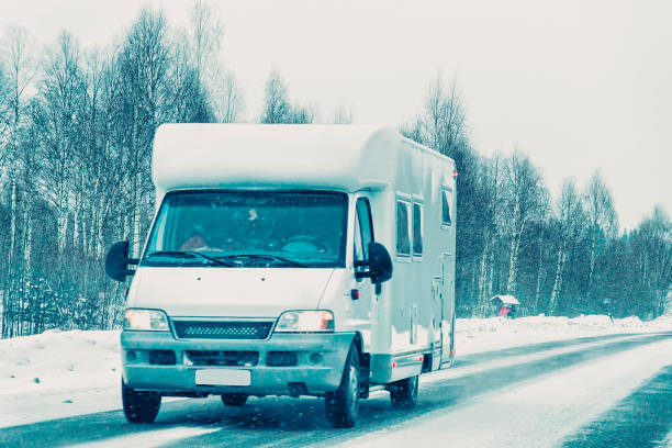 Caravan in road in rovaniemi finland at winter lapland picture id1048663220?b=1&k=6&m=1048663220&s=612x612&w=0&h=gkhbcnaki4j84umcwljhymmet7s3h2argfdl9srdth8=