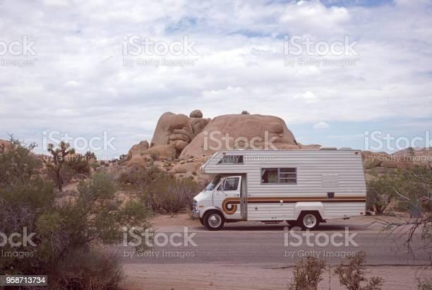 Caravan in the California desert