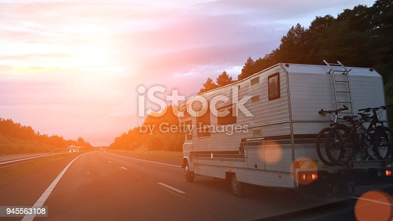Caravan on the road
