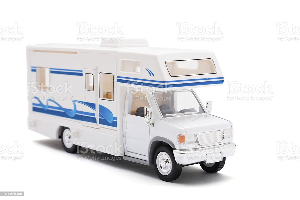 Caravan on white royalty-free stock photo