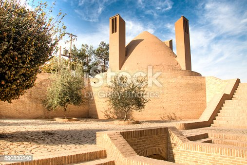 The ancient caravanserai in the centre of the historical town Meybod near Yazd in Iran