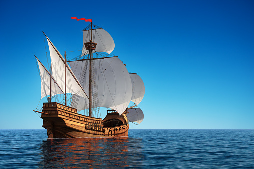 Caravel In The Ocean