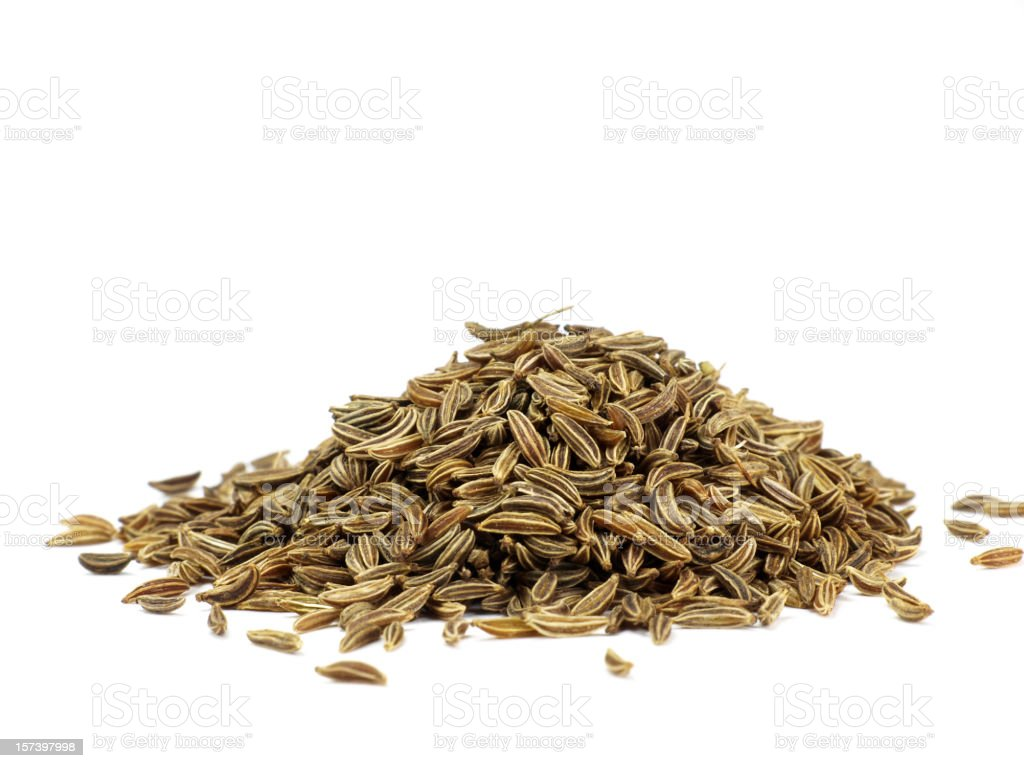 caraway isolated on white stock photo