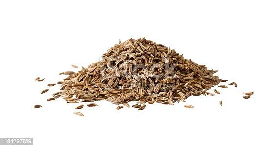 close up of some caraway seeds