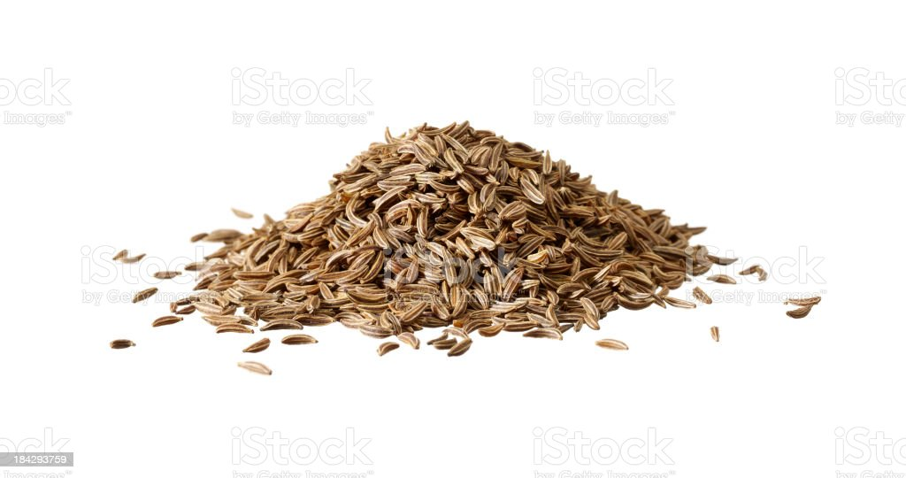 caraway seed isolated on white stock photo