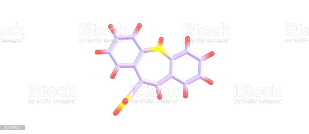 Carbamazepine molecular structure isolated on white stock photo