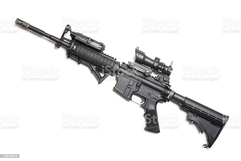 M4A1 carbine without magazine stock photo